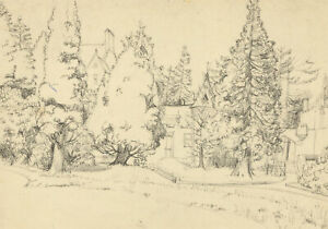 Anne Roger - Mid 20th Century Pen and Ink Drawing, St Hilda's