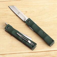 KATSU Handmade D2 Steel Blade G10 Handle Bamboo Style Japanese Pocket Knife
