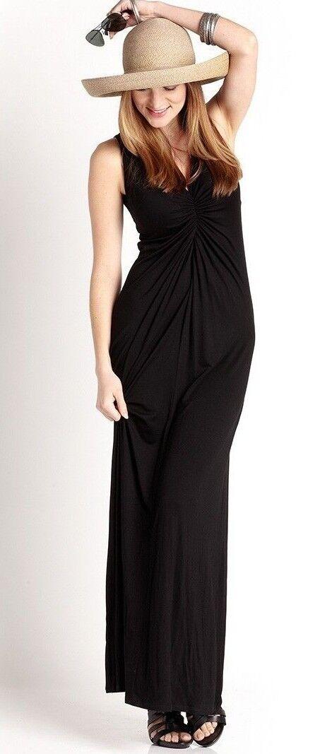 Karen Kane L13091 schwarz Sofia Shirrot Front Maxi Dress, S  -