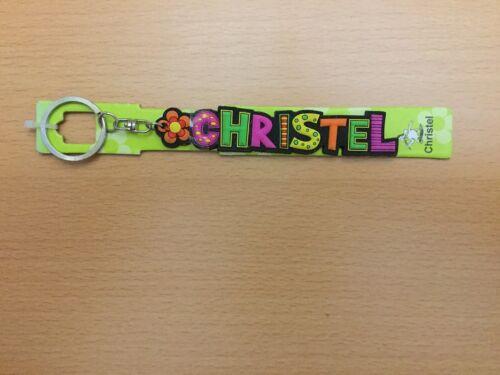 """2 cm hoch /"""" CHRISTEL /"""" Fun Schlüsselanhänger von Albatros mit Namen bunt ca"""