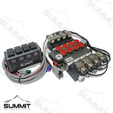 Hydraulic Monoblock Directional Solenoid Control Valve 4 Spool 13 Gpm With Switch
