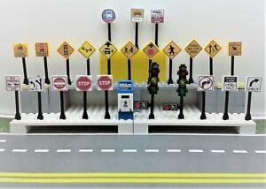 Lego-City-TOWN-VILLAGE-STREET-25-Play-road-signs-POST-BOX-TRAFFIC-LIGHTS