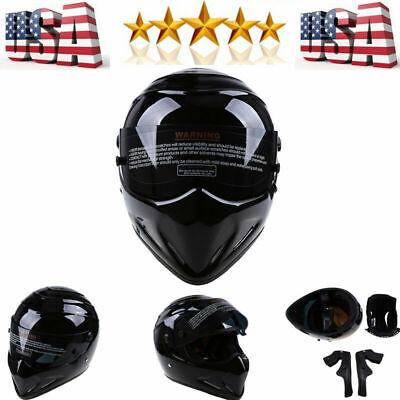 Motorcycle Motocross Street Racing Fiberglass Full Face Helmet For Bandit  DOT