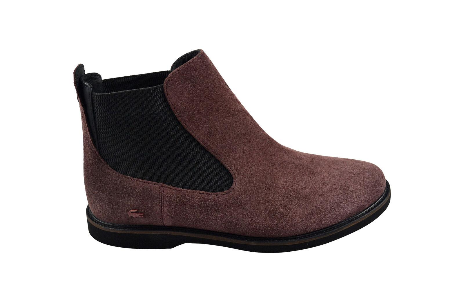 Lacoste thionna srw Dark Bourgogne Bottes Chaussures