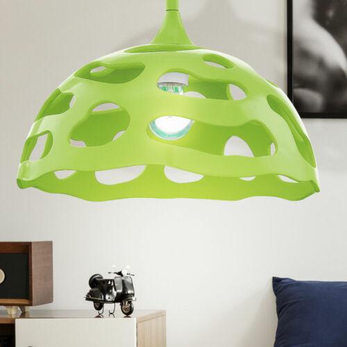 Design Hänge Leuchte Decken Wohn Ess Zimmer Pendel Muster Lampe gelöchert rund