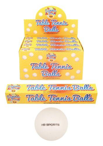 40 mm logo GRATUIT Neuf scellé qualité spéciale Balles de tennis de table 6 X Uni Blanc