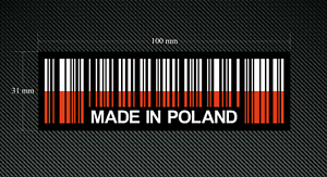 To Stick on Inside of Glass 2 x MADE IN POLAND BAR CODE Stickers//Decals
