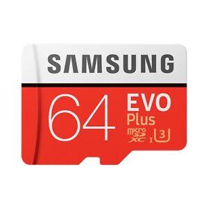 Samsung EVO Plus 64GB Class 10 MicroSDXC Speicherkarte  UHS-I  mit Adapter Micro