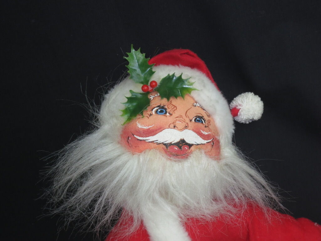 New VINTAGE 1989 ANNALEE DOLLS SANTA CLAUSE POSEABLE PLUSH STUFFED CHRISTMAS TOY