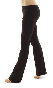 Ladies-Dance-Jazz-Pants-Trousers-Black-Cotton-Adults