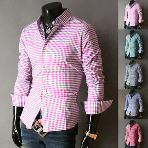 CHEAP 2015 Mens Stylish Shirt Slim Fit Casual Formal Dress Shirts ...