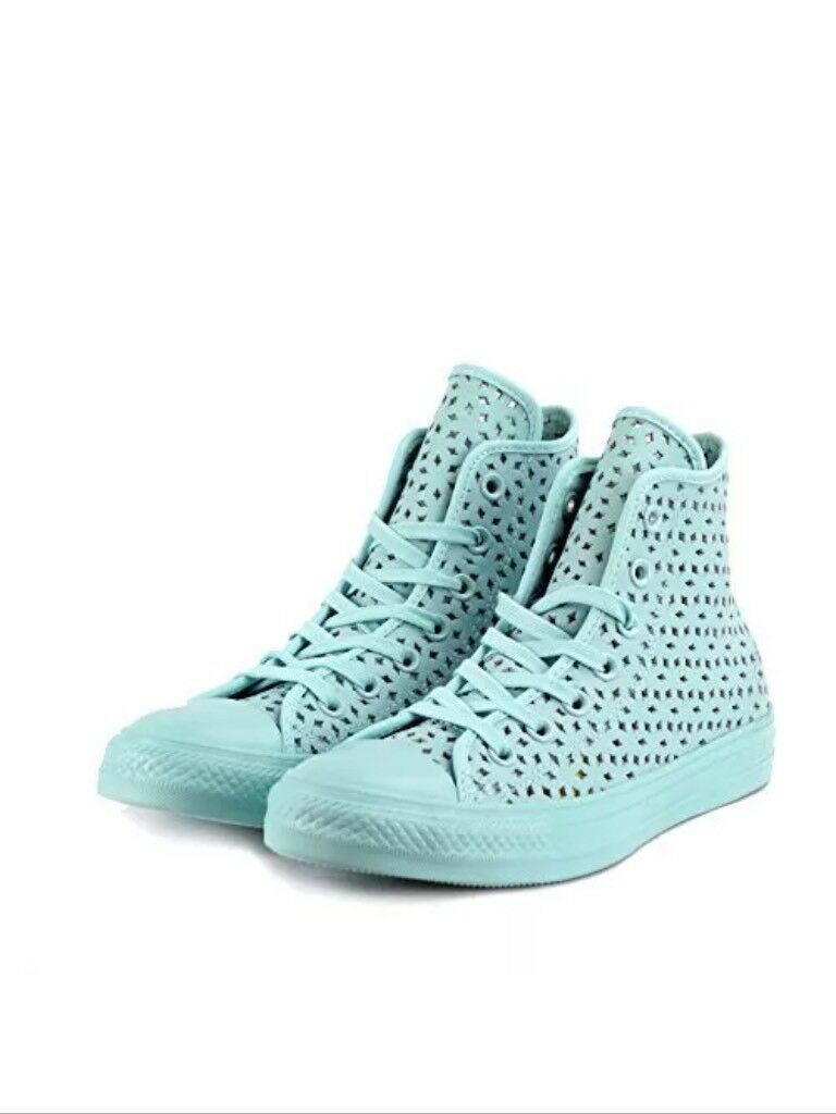 New Converse Chuck Taylor All Star Hi Perforated Mono Femme Chaussures4.5