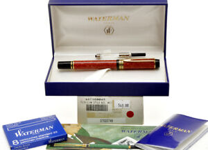 Waterman-Man-100-1992-Patrician-Coral-Red-fountain-pen-new-pristine-in-box
