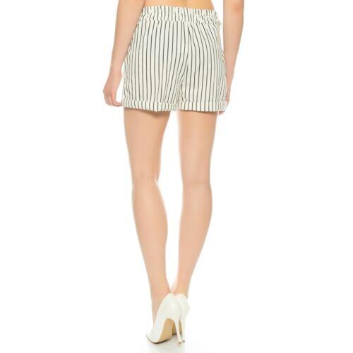Damen-Shorts Sommer-Shorts kurze HoseSchleife zum bindenBermuda 34 36 38