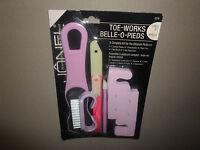 7 Pc Pedicure Setcuticle Pusher, Buffer, 2 Files, Nail Brush & Separators,