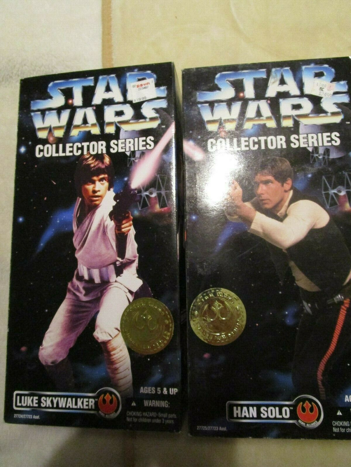 Vintage Star Wars Collector Series Han Solo Luke Skywalker 12  Action Figure