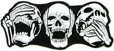 XL Skull Pirate Captain Hat Punk Rock Biker Patch Iron on T shirt Vest Jacket