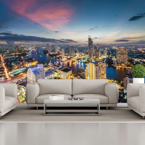 Sunset Bangkok Wall Mural Thailand City Skyline Photo Wallpaper Bedroom Decor