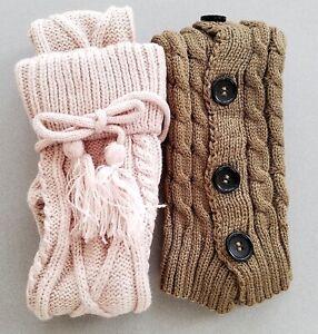2 PAIR LOT Women BOOT SOCKS /& Leg Warmer SET = 2 PAIR LOT