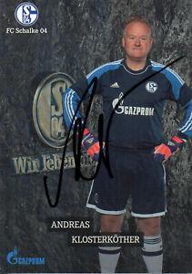 Autogramm - Andreas Klosterkötter (Schalke 04 Traditionsmannschaft)
