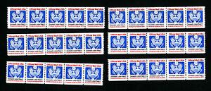 US-Stamps-O139-VF-6-Strips-of-5-Stamps-OG-NH-Catalog-Value-180-00