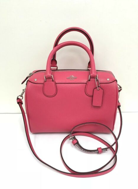 dc8652d3a589 ... discount code for nwt coach crossgrain leather mini bennett satchel  handbag f57521 magenta e6ed2 10777