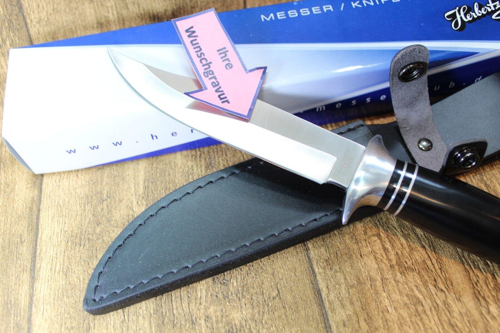 HERBERTZ Bowie Jagd Messer - Lederscheide - Diamantgravur - NEU NEU NEU & ovp - 581415 7a1c03