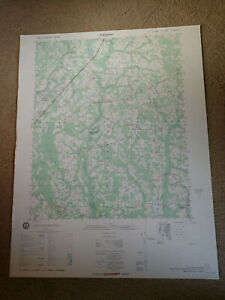 Large-28x22-1980-Topo-Map-Stedman-North-Carolina-Falcon-Salemburg-Huntley