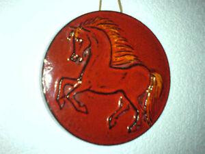 Wandteller-Plate-Pferd-Horse-Keramik-Fat-Lava-WGP-60s