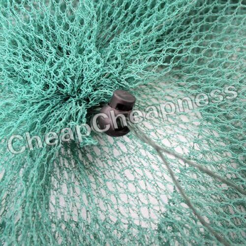 2 Layer Crab Fish Shrimp Minnow Fishing Bait Trap Cast Dip Net Cage US FBB