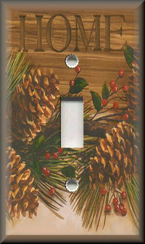 Light Switch Plate Cover - Country Rustic Home Pine Cones - Home Decor