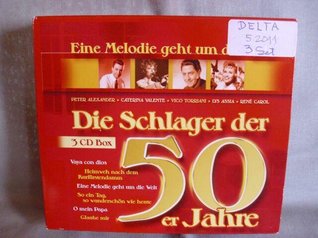 Die Schlager der 50er Jahre- 3 CD-Box- DELTA 2006 WIE NEU- lesen!