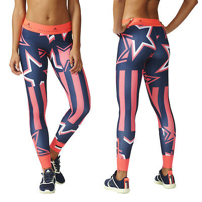adidas By Stella McCartney Stellasport Print Tight Fit Leggings Yoga Gym Fitness