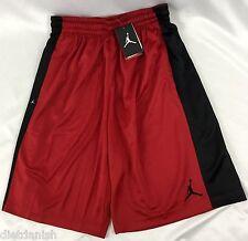 Nike Air Jordan MEN'S Athletic Basketball Loose Shorts Red Black 657722 Size S