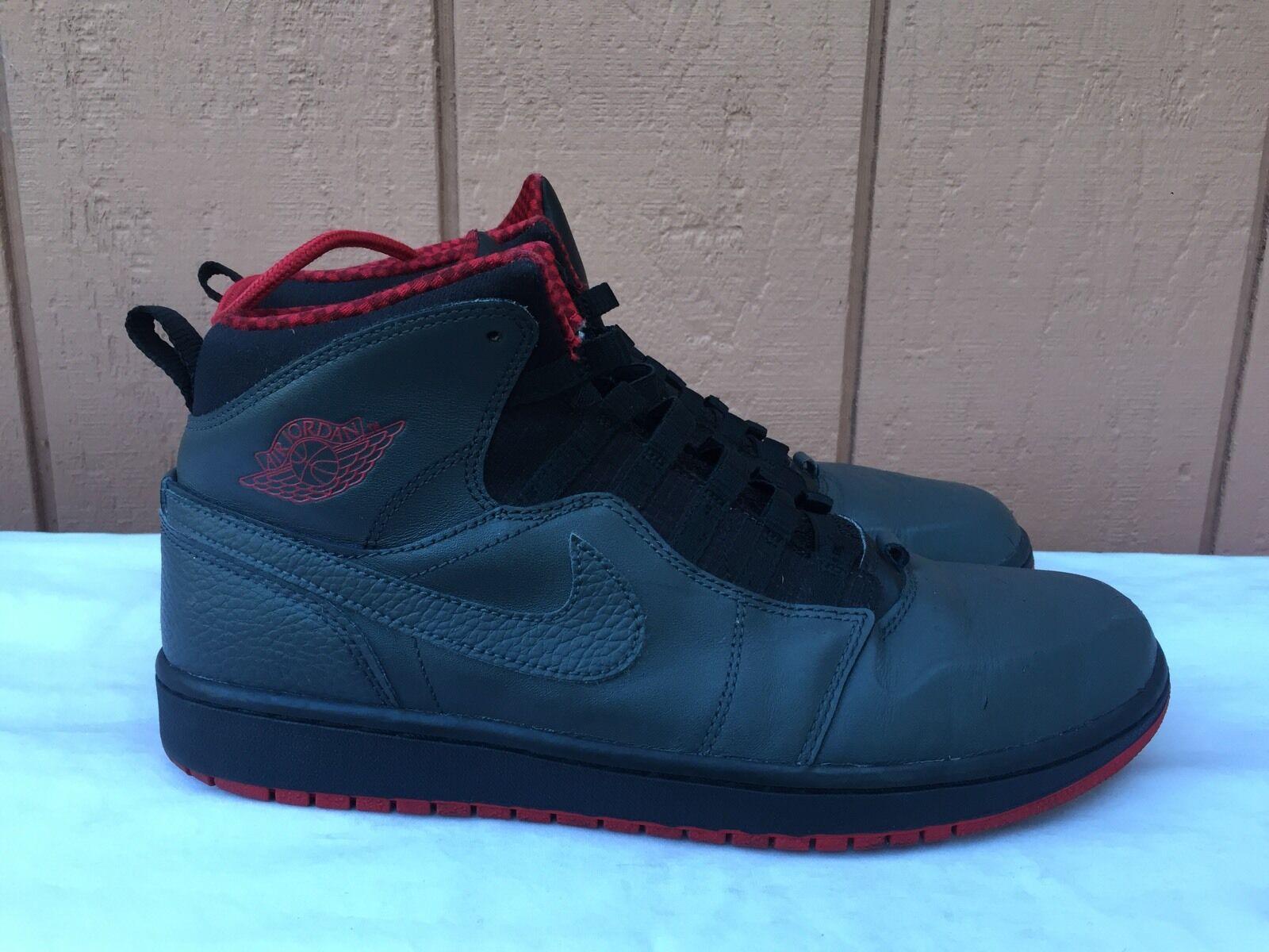 Nike Air Jordan Retro '1' 94 Antracite Grey Palestra Rosso Nero 631733-004 Uomini 10