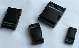 PLASTIC DELRIN SIDE RELEASE BUCKLES FOR WEBBING BAGS STRAPS CLIPS 20MM Ritssluitingen 50MM