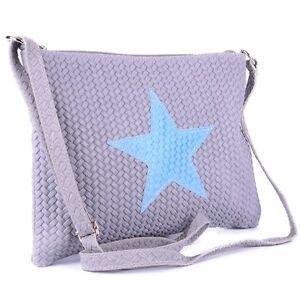Tasche Handtasche Echt Leder Schultertasche Umhängetasche Clutch Stern Star