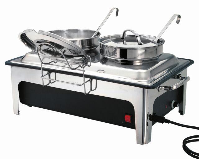 Bartscher Suppenstation Suppentopf 500840 Suppenwärmer 2x4 Liter elektrisch