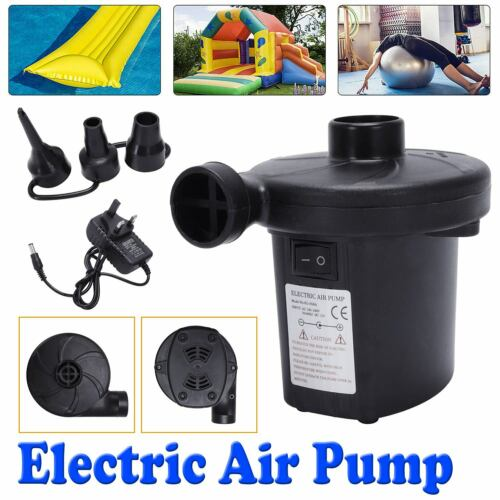 Electric Air Pump for Paddling Pool Fast Inflator Deflator Air Bed Mattress New