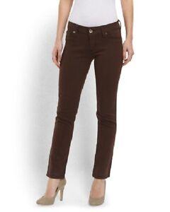 DL1961 Catseye Angel Ankle Skinny Fit Jeans Brown Stretch Sz 24 Waist $168