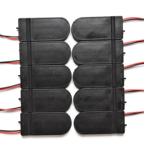 10x Einfache CR2032 3 V Knopfzelle Batterie Halter Fall Box Mit Auf-AXJ