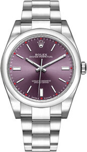 009e25fb7807e New Rolex Oyster Perpetual 39 Red Grape Dial Men s Luxury Watch ...