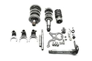 1985-85-Honda-CR125R-CR-125R-Transmission-Main-Counter-Shafts-Forks