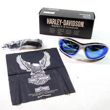 Harley Davidson HD1302 Anti Fog Safety Glasses, Blue Mirror Lens, 8796ZJZ3