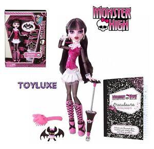 Monster-High-ORIGINAL-Favorite-DRACULAURA-Doll-amp-Pet-Bat-COUNT-FABULOUS-New-RARE