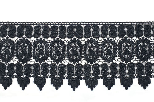 """Unotrim 8.5/"""" Black Off-White Gray Lilac Red Venice Lace Trim DIY Sewing by Yard"""