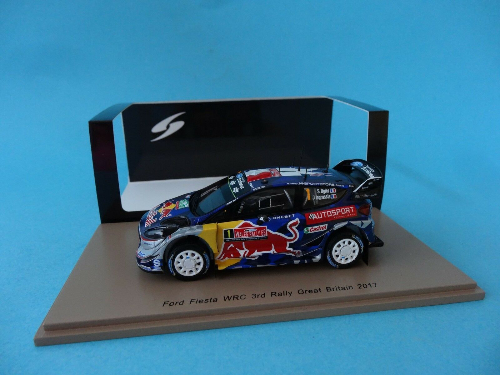 FORD FIESTA RS WRC  1 - OGIER  3th RALLY GREAT BRITAIN 2017 1 43 NEW SPARK S5175