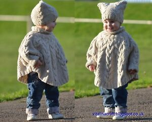 Details about Knitting Pattern - Vanilla Cloud Poncho and Hat Set (Toddler  and Child sizes)