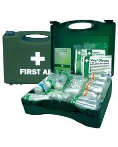 1 - 10 First Aid Box Hse Approuvé, Ambulancier, Premiers Secours, Camping, Bureau, Travail,-afficher Le Titre D'origine