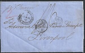 Brazil 1864 folded letter from Rio to Liverpool by BEARN